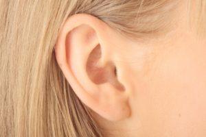 womans ear